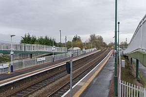 Camelon railway station - Camelon railway station, looking east from the footbridge steps