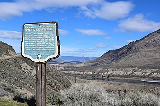 "Canadian National Railway - Historical marker at site of Canadian National's ""last spike"" near Ashcroft, British Columbia"