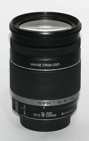 Canon EF-S 18–200mm lens - Image: Canon EF S 18 200mm lens