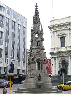 Dunedin - Monument to William Cargill on Princes Street