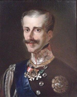 Statuto Albertino -  Portrait of Carlo Alberto of Savoy.