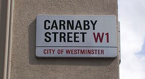 Carnaby Street - Carnaby Street sign
