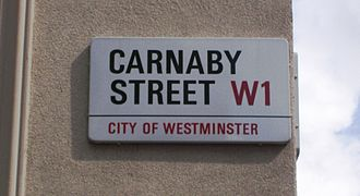 Misha Black - Carnaby Street sign