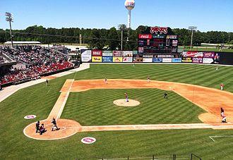 Five County Stadium - Image: Carolina Mudcats at Five County Stadium