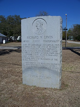 Carrabelle, Florida - Richard W. Ervin monument in Carrabelle