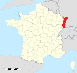 Location of Alsace
