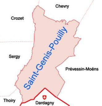 Saint-Genis-Pouilly - Communes bordering Saint-Genis-Pouilly