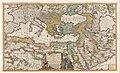 Cartografie in Nederland, kaart van het Middellandse Zeegebied met delen van Europa, N. Afrika en het Midden Oosten (Turkse rijk), NG-501-47.jpg