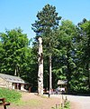Carved totem pole at Fairholmes - geograph.org.uk - 185558.jpg