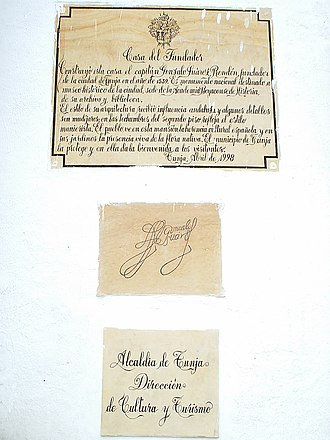 Gonzalo Suárez Rendón - Image: Casa del fundador 2