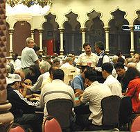 The poker tables in the Trump Taj Mahal