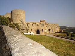 Romanic castle of Bovino with Norman Tower