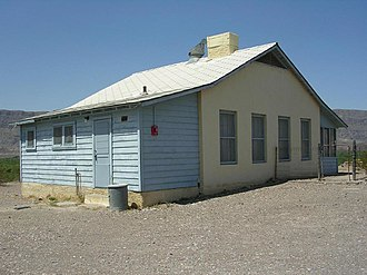 National Register of Historic Places listings in Brewster County, Texas - Image: Castolon Army Compound officer's quarters NPS