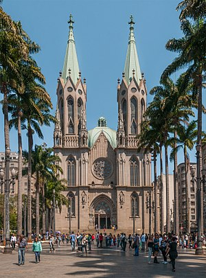 Cathedral - São Paulo Cathedral, a representative modern cathedral built in Neo-Gothic style.