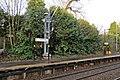Catenary Mast, Eccleston Park railway station (geograph 3795619).jpg