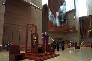 Cathedra - Modern cathedra at the Cathedral of Our Lady of the Angels in Los Angeles