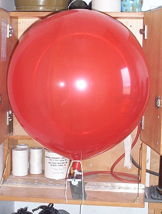 Ceiling balloon - A fully inflated ceiling balloon