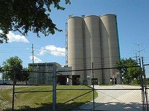 Summit, Illinois - Cement silos in Summit