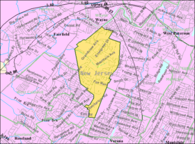 Census Bureau map of North Caldwell, New Jersey.png