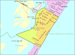 Ship Bottom, New Jersey - Image: Census Bureau map of Ship Bottom, New Jersey