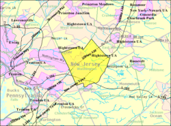 Robbinsville Township New Jersey Wikipedia - Nj us map
