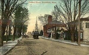 Brookfield, Massachusetts - Central Street in 1908
