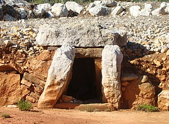 Portugal - The Megalithic Monuments of Alcalar, built in the 3rd millennium BC Southern Portugal, now the Algarve.