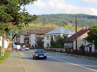Frasin Town in Suceava, Romania