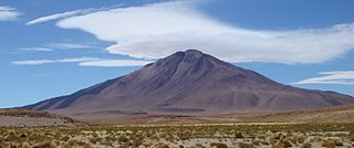 Cerro Tuzgle stratovolcano in the Susques Department of Jujuy Province in Argentina