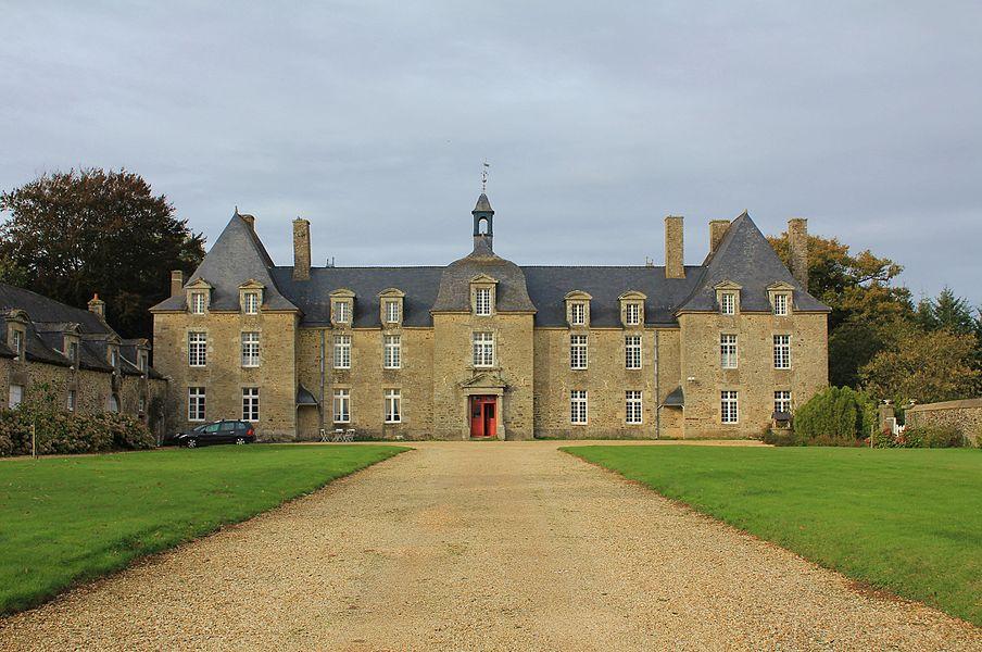 Château de Porhman: vue générale depuis le sud