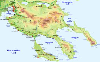 chalkidiki karte Chalkidiki – Wikipedia