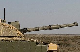 Tank gun - L30 gun on a Royal Scots Dragoon Guards Challenger 2 tank.
