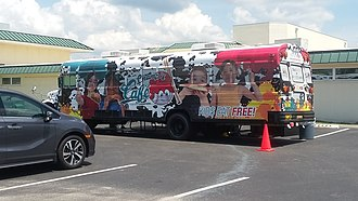 Summer Food Service Program - A mobile cafeteria used as part of Charlotte County Public Schools' summer feeding program