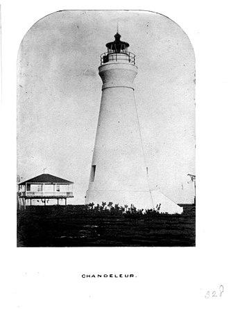 Chandeleur Island Light - Image: Chandeleur Island Light LA 19th Century Tower