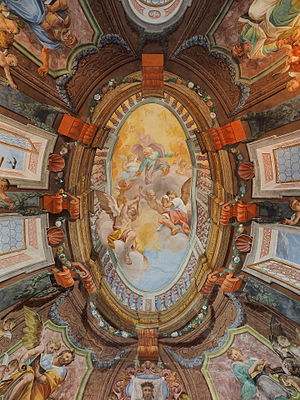 Brežice Castle - Ceiling frecoes of Chapel.