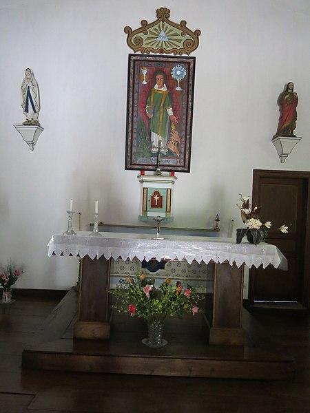 Choir of the chapel of Saint Lawrence of Guermiette in Saint-Étienne-de-Baïgorry (Pyrénées-Atlantiques, France).