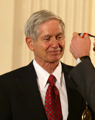 History of climate change science - Charles Keeling, receiving the National Medal of Science from George W. Bush, in 2001.