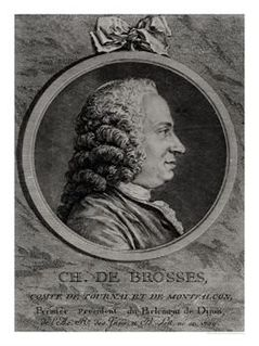 Charles de Brosses French writer