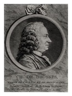 1709 in France - Charles de Brosses