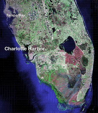 Charlotte Harbor (estuary) - Charlotte Harbor and SW Florida in a NASA satellite image