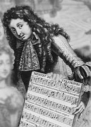 """""""Monsieur Charpentier"""" from Pierre Landry's Almanach Royale (1682);  probably Marc-Antoine Charpentier"""