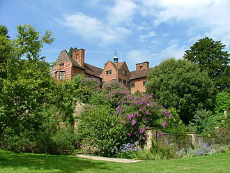 """Chartwell - Chartwell - Clementine Churchill's """"magnificent aerial bower"""" to the left"""