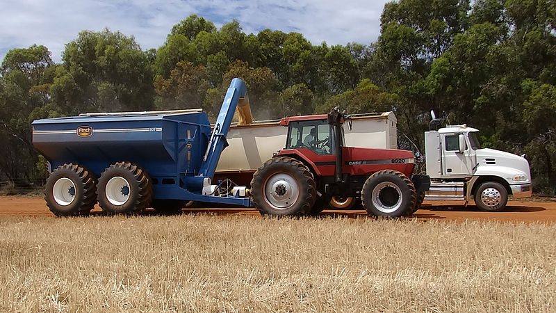 Chaser Bin unloading into Semi-Trailer, by CD design85