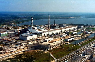 Chernobyl Nuclear Power Plant - The power plant with sarcophagus, in 2007