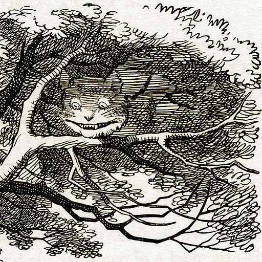 Cheshire Cat vanishing (detail)