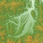 Chichibu Basin Relief Map, SRTM-1.jpg