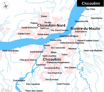Carte Canada Chicoutimi.Chicoutimi Wikipedia
