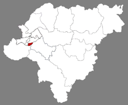 Location of Pingfang in Harbin
