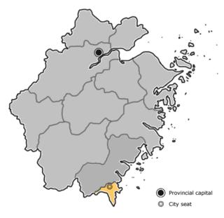Cangnan County County in Zhejiang, Peoples Republic of China