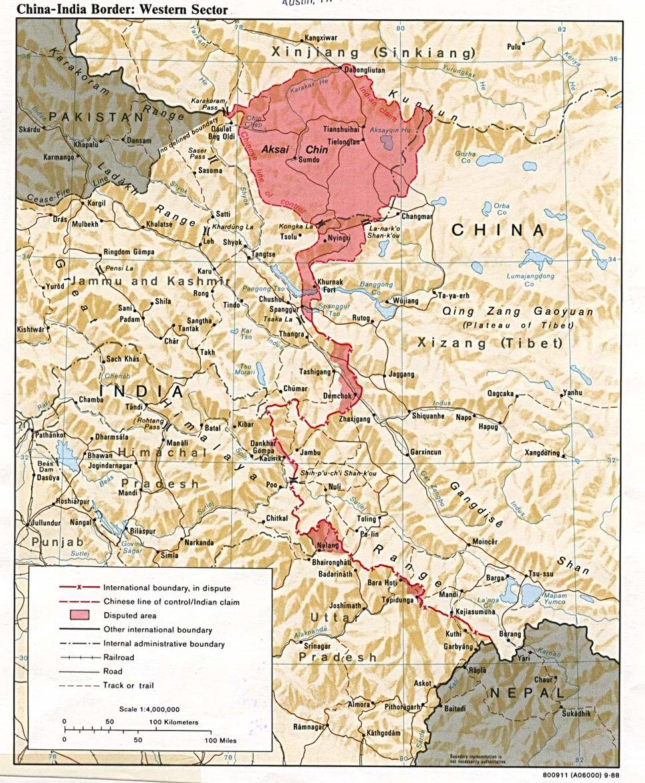 China India western border 88